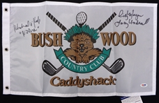 Caddyshack Pin Flag Signed by Cindy Morgan & Michael OKeefe