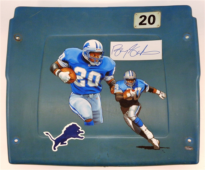Barry Sanders Autographed Hand Painted Silverdome Seat Back