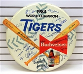 Detroit Tigers Team Signed 1984 Budweiser Sign