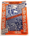 1936 Spalding NCAA Football Rules & Team Guide