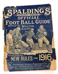 1916 Spalding Official Football Guide