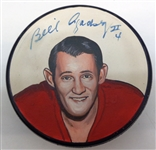 Bill Gadsby Autographed Hand Painted Puck