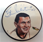 Stan Mikita Autographed Hand Painted Puck