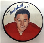 Frank Mahovlich Autographed Hand Painted Puck