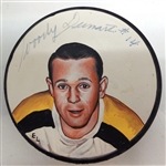 Woody Dumart Autographed Hand Painted Puck