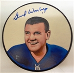 Gump Worsley Autographed Hand Painted Puck