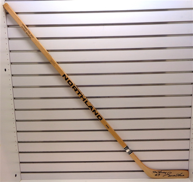 Gordie Howe Autographed Northland Stick w/ Mr. Hockey
