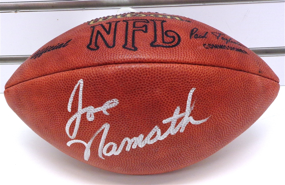 big sale 7d418 70dce Lot Detail - Joe Namath Autographed Official NFL Football