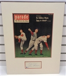 Ewell Blackwell Autographed Matted Display Piece