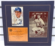 Mickey Cochrane & More Signed Matted Display Piece