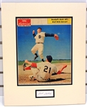Frank Bolling Autographed Matted Display Piece
