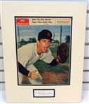 Billy Martin Autographed Matted Display Piece