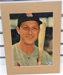 Stan Musial Autographed Matted Display Piece