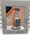 Hockey Hall of Fame Autographed Matted Display Piece