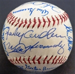 1984 Detroit Tigers Team Signed Ball - 27 autos