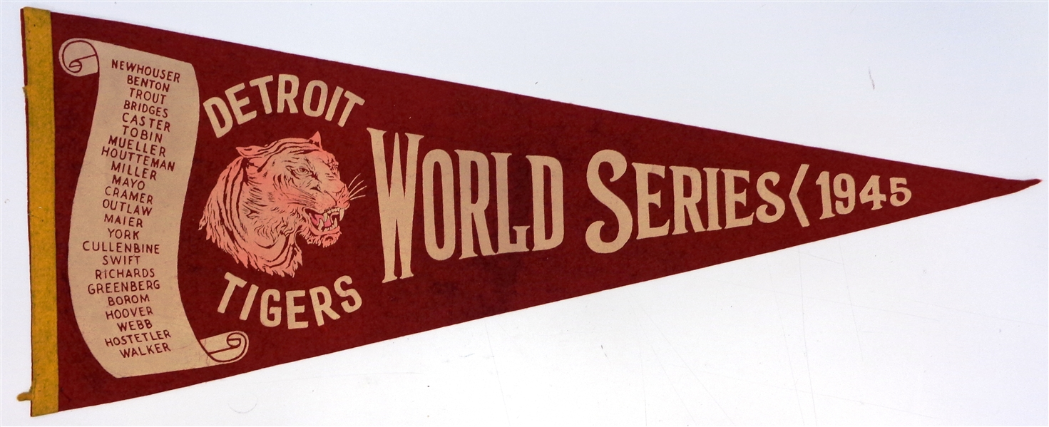 1945 Detroit Tigers World Series Pennant
