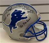 Barry Sanders Autographed Pro Line Helmet w/ 6 Inscriptions