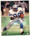 Barry Sanders Autographed 16x20 w/ 6 Inscriptions