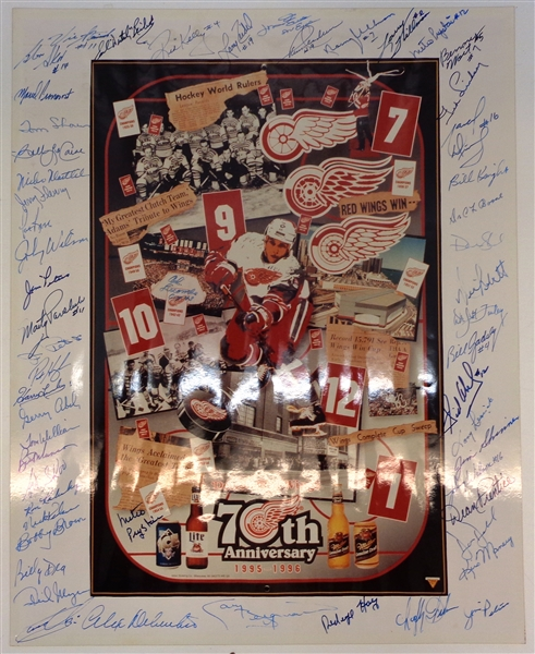 Red Wings 70th Ann. 16x20 Signed by 50+