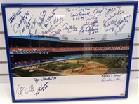 Tiger Stadium Framed 16x20 Signed by 35+