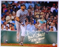 Miguel Cabrera Autographed Triple Crown Stat 16x20