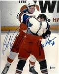 Bob Probert & Joe Kocur Autographed 8x10 Fight Photo