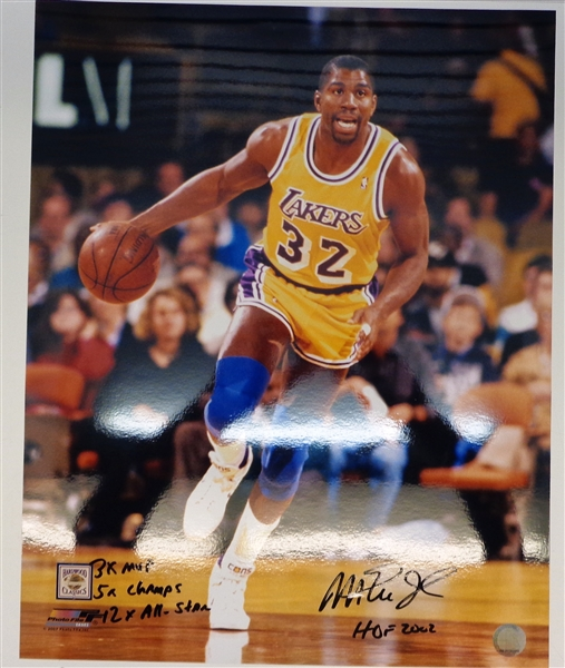 Magic Johnson Autographed 16x20 w/ 4 Inscriptions