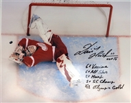 Dominik Hasek Signed 16x20 w/ 6 Inscriptions