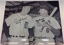 Al Kaline & Stan Musial Signed 16x20 Photo w/ HOF
