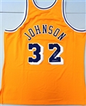 Magic Johnson Autographed Mitchell & Ness Authentic Lakers Jersey