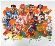 Our MVPs Litho Signed by Yzerman, Sanders, Dumars & Trammell