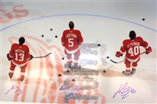 Datsyuk/Zetterberg/Lidstrom 20x30 Photo Signed