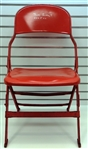 Ted Lindsay Autographed Metal Chair from Joe Louis Arena