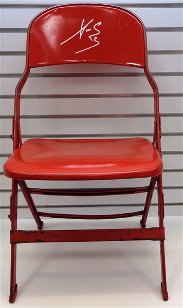 Lot Detail Pavel Datsyuk Autographed Metal Chair From