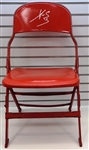 Pavel Datsyuk Autographed Metal Chair from Joe Louis Arena