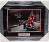 Nick Lidstrom Autographed Framed Norris Trophies Photo