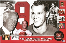Gordie Howe Autographed 80th Birthday 11x17