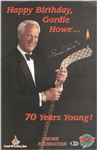 Gordie Howe Autographed 70th Birthday 11x17