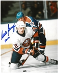 Mike Bossy Autographed 8x10 Photo w/ HOF