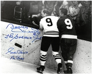 Gordie Howe & Bobby Hull Autographed 8x10 Photo w/ Nicknames