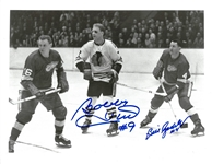 Bobby Hull & Bill Gadsby Autographed 8.5x11 Photo