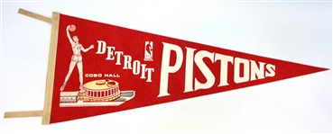 Detroit Pistons Cobo Hall Vintage Pennant