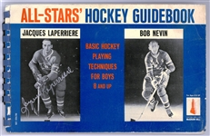 Jacques Laperriere Autographed Hockey Guide Book