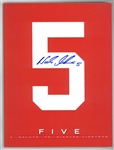 "Nick Lidstrom Autographed ""5"" Book"