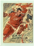 Gordie Howe Autographed Matted Magazine Page