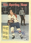 Yvan Cournoyer Autographed 1971 Sporting News
