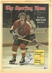 Bobby Clarke Autographed 1973 Sporting News