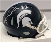 Andre Rison Signed Full Name Signature Michigan State Spartans Riddell Speed Mini Helmet