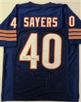 Gale Sayers Signed Navy Custom Jersey