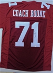 Coach Herman Boone Signed Maroon Throwback Custom Football Jersey